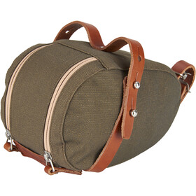 Brooks Isle of Wight Bolsa de sillín Pequeño, green/honey